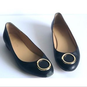 """TALBOTS embellished flats in a 7.5"""""""